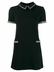 Saint Laurent embellished short-sleeve dress - Black
