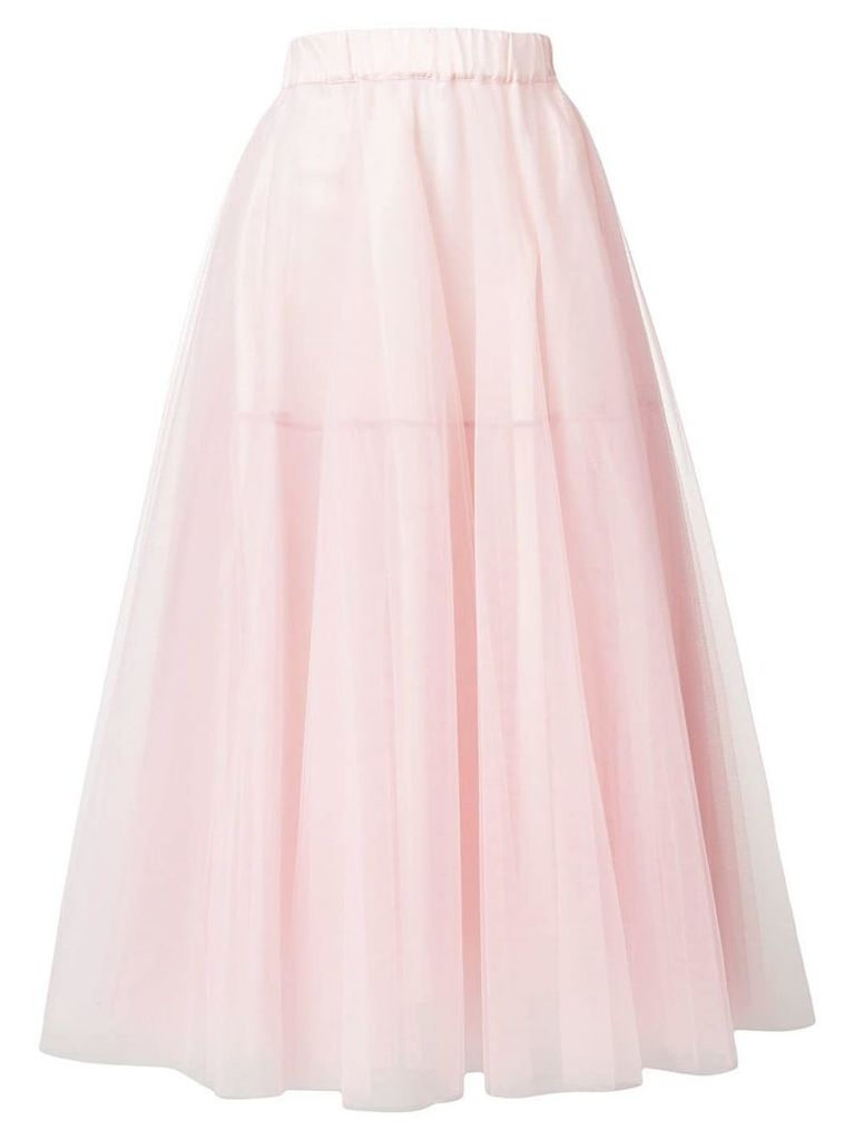 P.A.R.O.S.H. tulle midi skirt - Pink