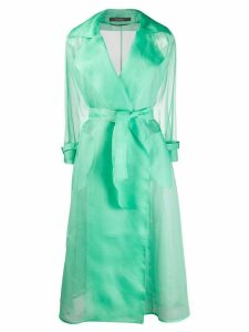 Max Mara organza trench coat - Green