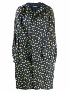 Undercover oversized floral coat - Blue