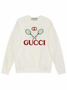 Gucci Oversize sweatshirt with Gucci Tennis - Neutrals