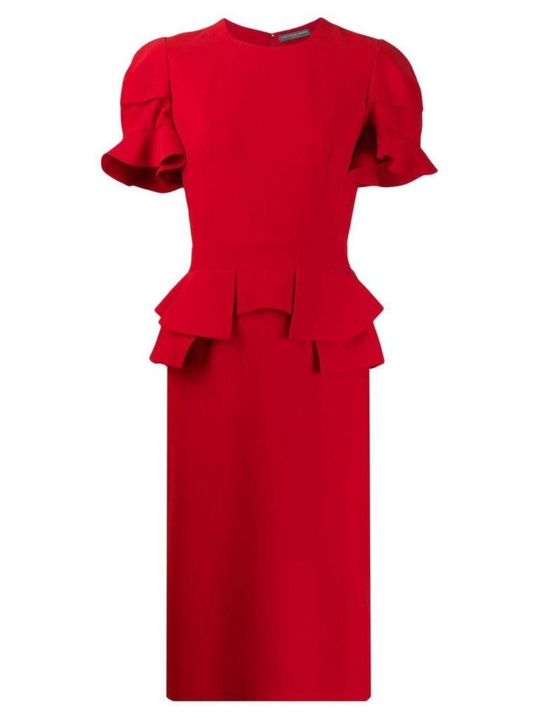 Alexander McQueen peplum pencil dress - Red