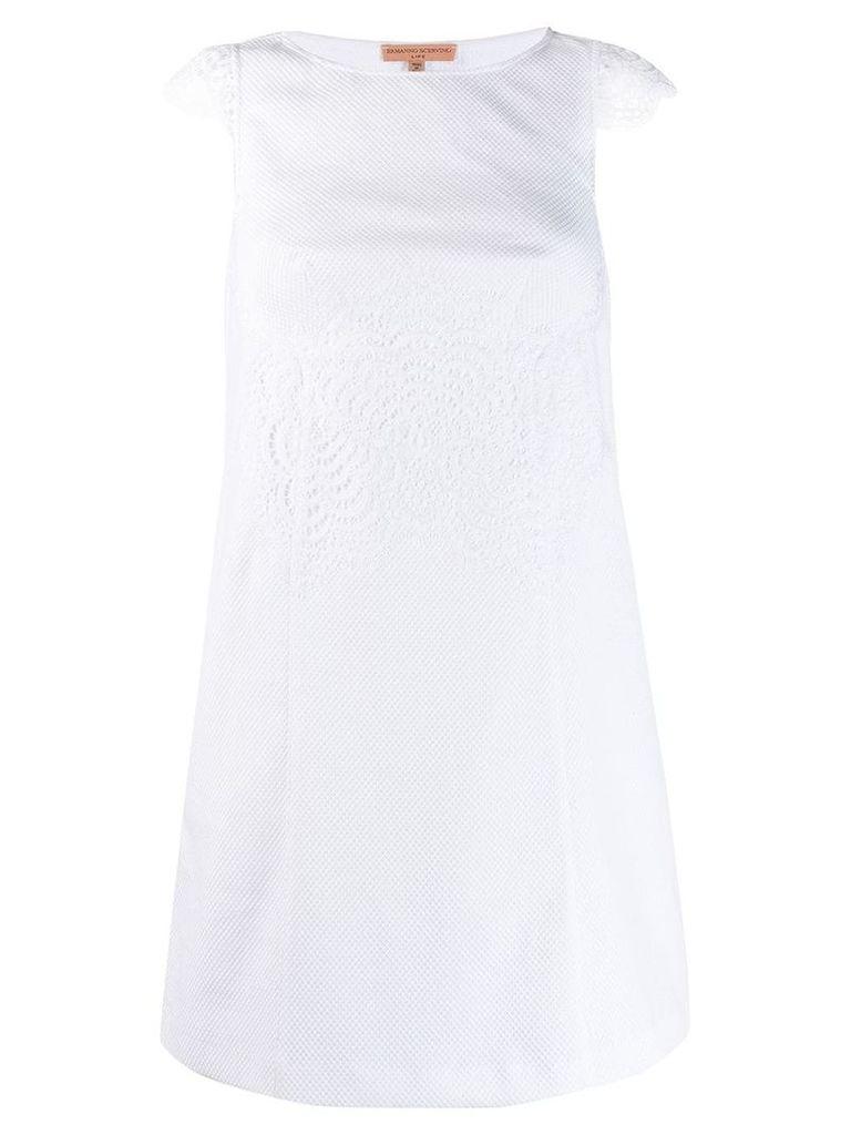 Ermanno Scervino classic shift dress - White