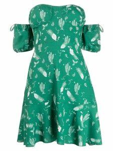 Chiara Ferragni off the shoulder mini dress - Green