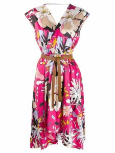 Liu Jo floral print wrap dress - Pink