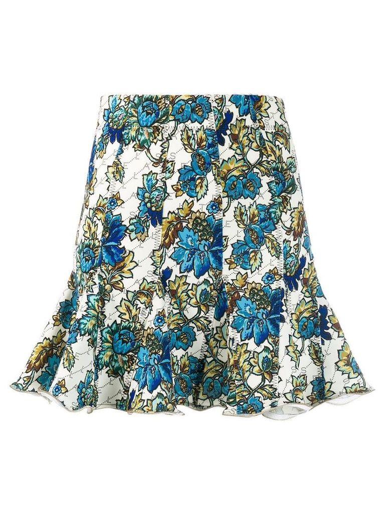 Stella McCartney floral monogram skirt - Blue