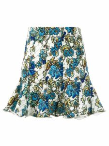 Stella McCartney floral monogram skirt - Blue
