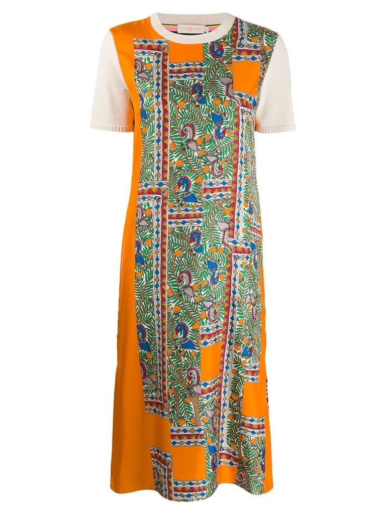 Tory Burch all-over print T-shirt dress - Orange