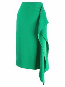 Rochas draped detail skirt - Green