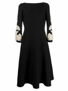 Valentino lace sleeve dress - Black