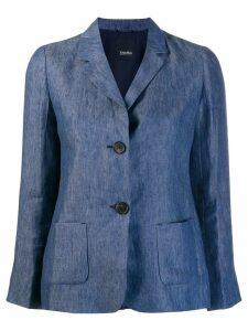 'S Max Mara single breasted blazer - Blue