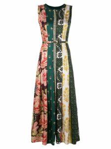 Oscar de la Renta multi-pattern satin dress - Multicolour