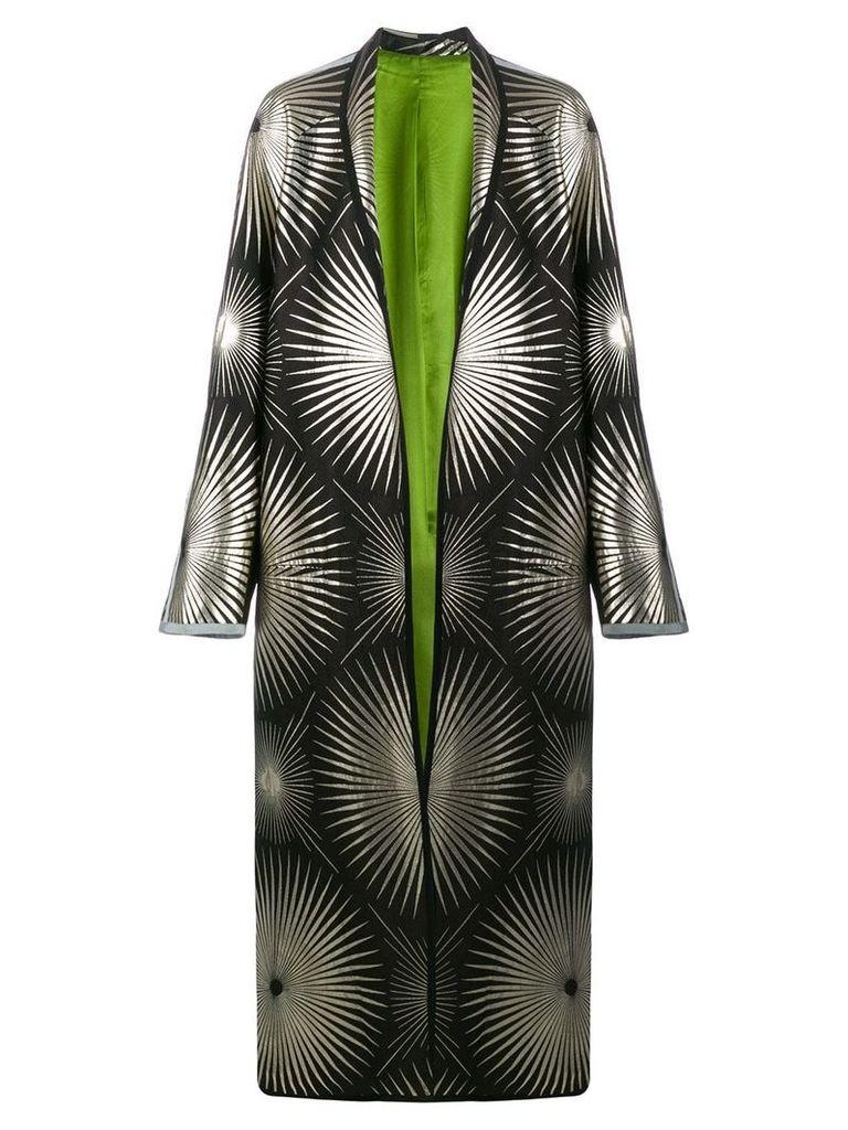 Haider Ackermann metallic print duster coat - Black