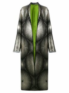 Haider Ackermann metallic print duster coat - Black