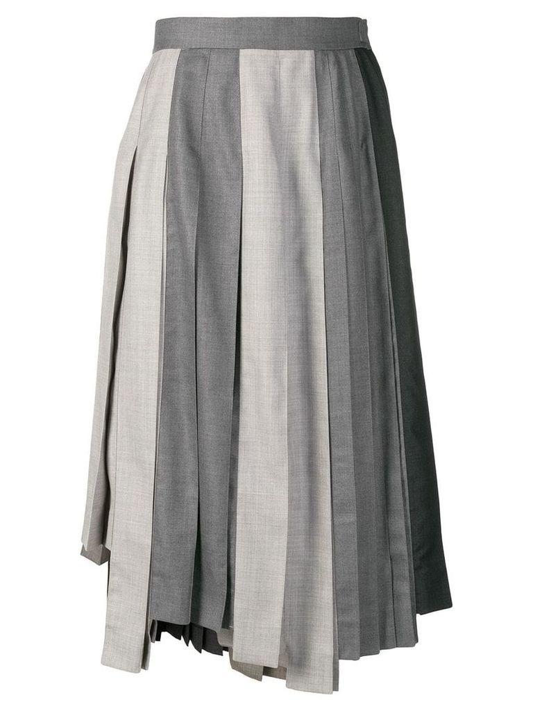 Thom Browne Altered Pleat Midi Skirt - Grey