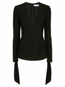 Carolina Herrera tie-cuff blouse - Black