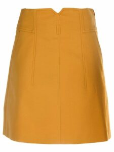Dorothee Schumacher high-rise A-line skirt - Yellow