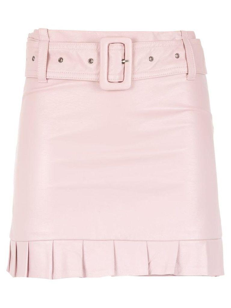 Andrea Bogosian ruffled leather skirt - Pink