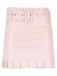 Andrea Bogosian ruffled leather skirt - Pink