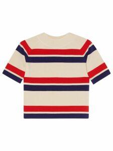 Gucci Striped wool top - Neutrals