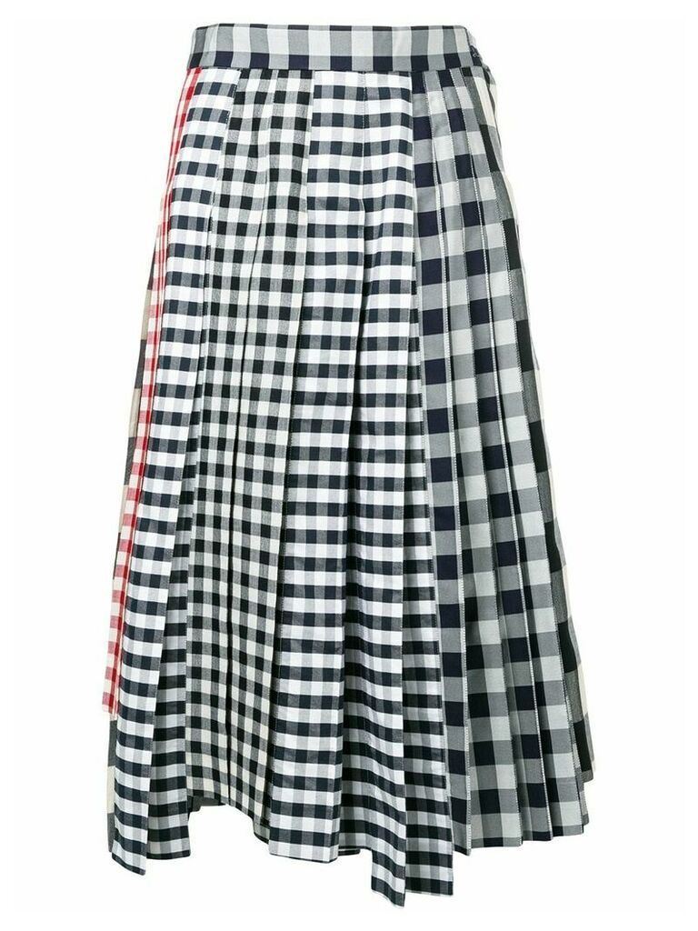 Thom Browne Altered Pleat Midi Skirt - Blue
