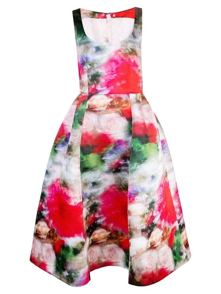 Adam Lippes flared floral print dress - Multicolour