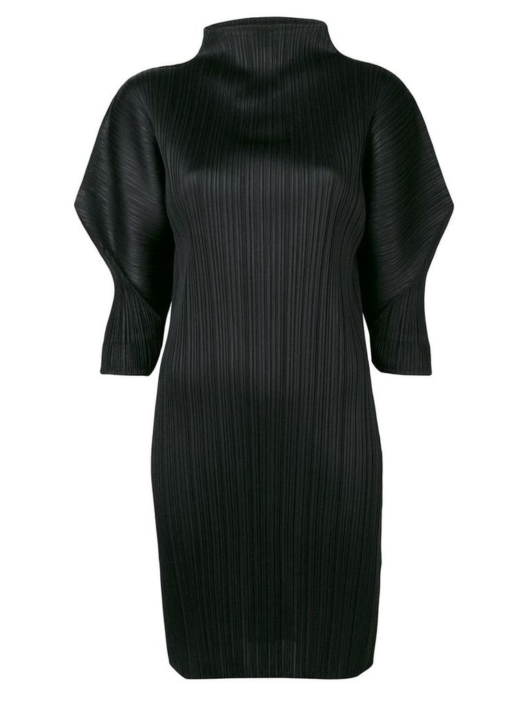 Pleats Please By Issey Miyake short fitted dress - Black