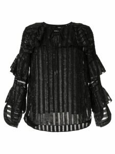 Elie Tahari Mirma striped blouse - Black