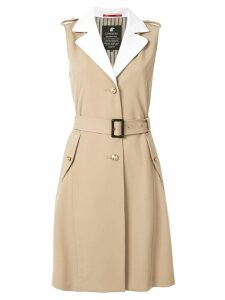 Loveless sleeveless trench coat - Brown