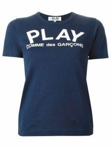 Comme Des Garçons Play logo print T-shirt - Blue