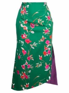Silvia Tcherassi fitted floral skirt - Green