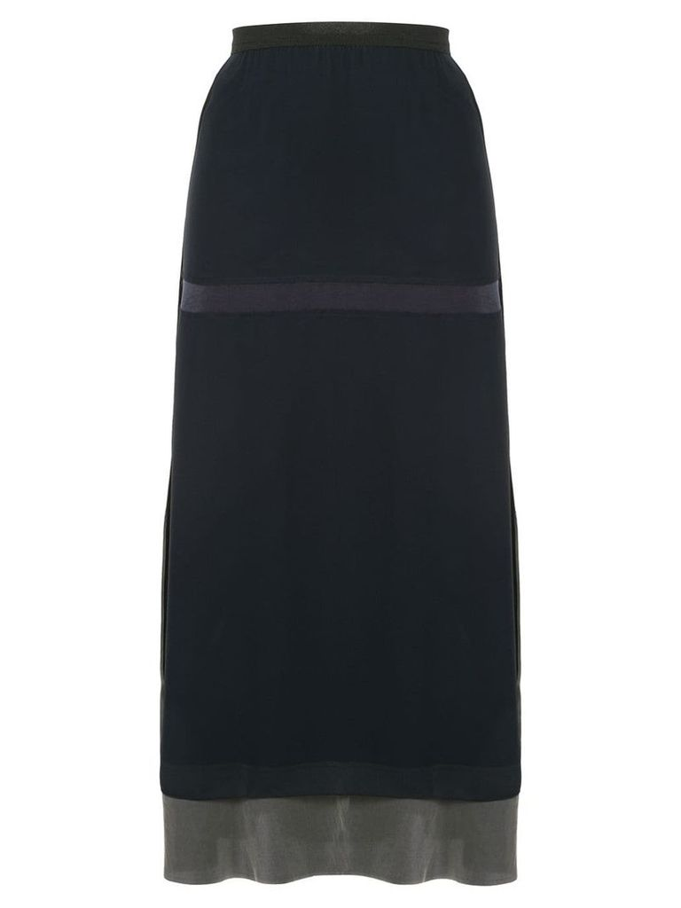 Undercover layered skirt - Blue