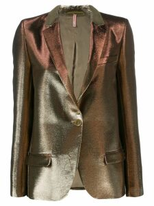 Indress metallic-effect fitted blazer - Gold