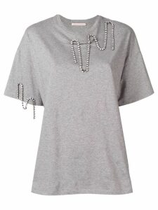 Christopher Kane squiggle cupchain t-shirt - Grey