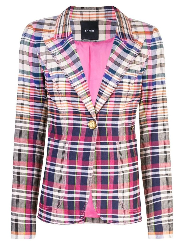 Smythe check fitted blazer - Multicolour