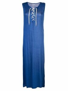 Majestic Filatures sleeveless shift dress - Blue