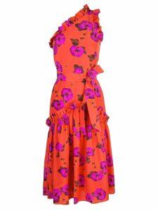 Borgo De Nor floral asymmetric dress - Orange