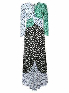 Rixo tiered v neck dress - Multicolour