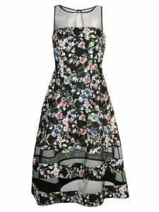 Aidan Mattox floral flared midi dress - Black