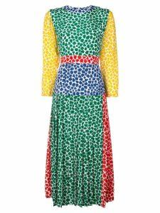 Rixo patterned pleat dress - Multicolour