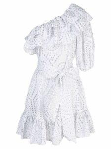 Lisa Marie Fernandez embroidered ruffle dress - White
