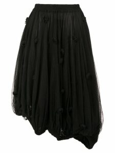 Rundholz asymmetric tulle skirt - Black