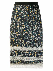 Dorothee Schumacher printed pencil skirt with lace - Black