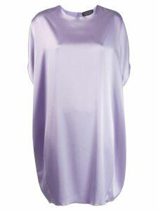 Gianluca Capannolo boxy shift dress - Purple