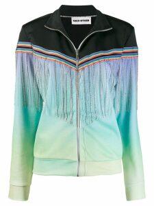 Each X Other fringed zipped jacket - Black