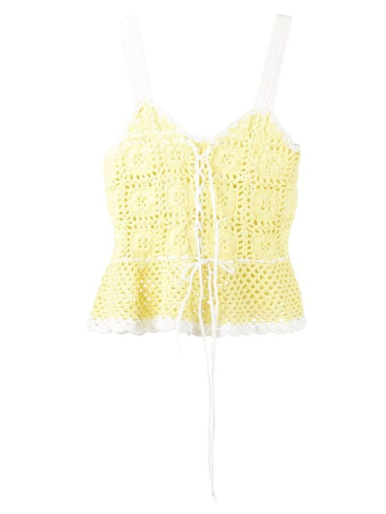 Staud knit tank top - Yellow