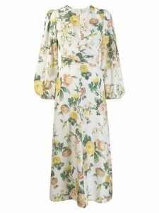 Zimmermann floral print mid-length dress - White