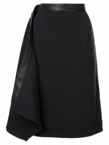 Y/Project leather trim skirt - Blue