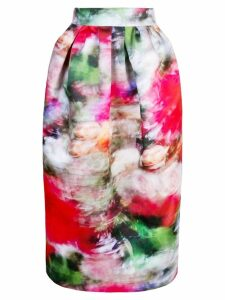 Adam Lippes high-waisted floral print skirt - Pink