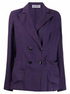 Barena peaked lapel blazer jacket - Purple